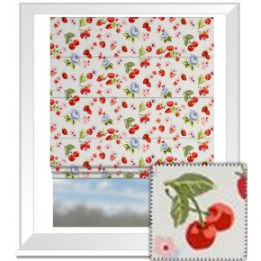 Clarke and Clarke Garden Party SummerFruits Chambray Roman Blind
