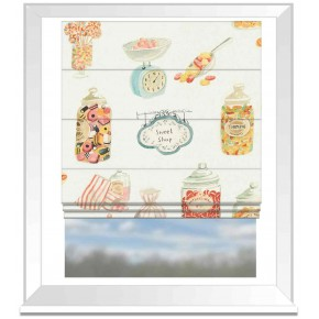A Village Life  Sweet Shop  Cream  Roman Blind