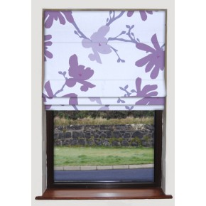 Clarke and Clarke Astrid Tilda Heather Roman Blind