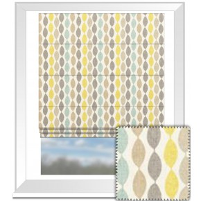 Clarke and Clarke Festival Twist Aqua Roman Blind