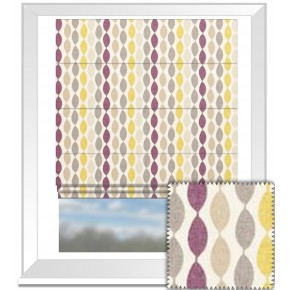 Clarke and Clarke Festival Twist Elderberry Roman Blind