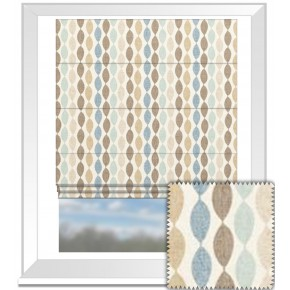 Clarke and Clarke Festival Twist Mineral Roman Blind