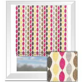 Clarke and Clarke Festival Twist Sorbet Roman Blind