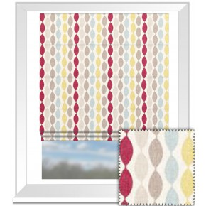 Clarke and Clarke Festival Twist Summer Roman Blind