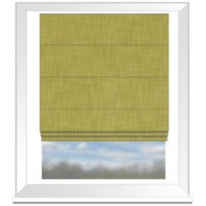 Clarke and Clarke Vienna Citron Roman Blind