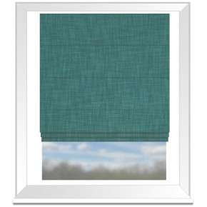 Clarke and Clarke Vienna Teal Roman Blind