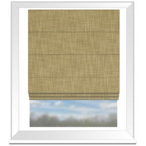 Clarke and Clarke Vienna Toast Roman Blind