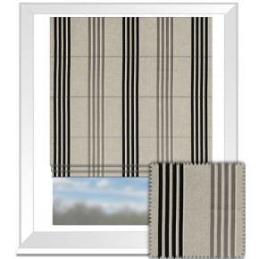 Clarke and Clarke Richmond Wensley Charcoal Roman Blind