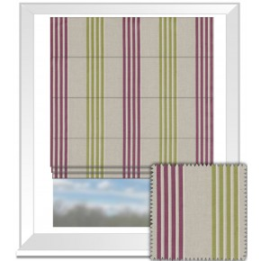 Clarke and Clarke Richmond Wensley VioletCitrus Roman Blind
