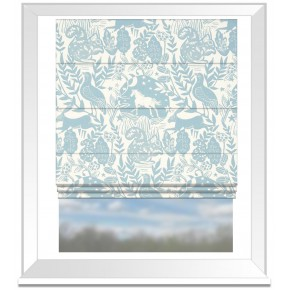 Clarke and Clarke Blighty Westonbirt Blue Roman Blind