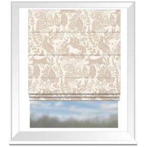 Clarke and Clarke Blighty Westonbirt Taupe Roman Blind