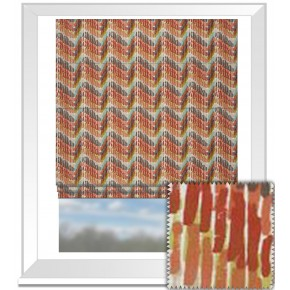 Clarke and Clarke Cariba Windjammer Spice Roman Blind