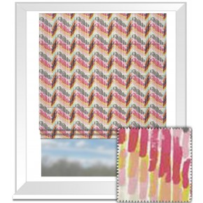 Clarke and Clarke Cariba Windjammer Summer Roman Blind