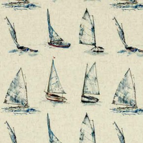 Clarke and Clarke Countryside Yachts Linen Curtain Fabric