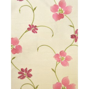 Harmony Zara  Carnation Curtain Fabric