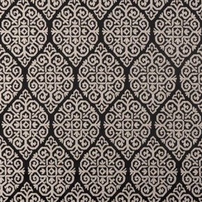 Clarke and Clarke Bukhara Zari Ebony Cushion Covers