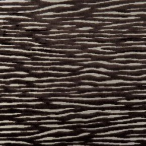 Clarke and Clarke Academy Velvets Zebra Chocolate Curtain Fabric