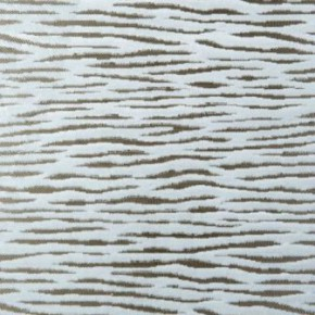 Clarke and Clarke Academy Velvets Zebra Cream Curtain Fabric