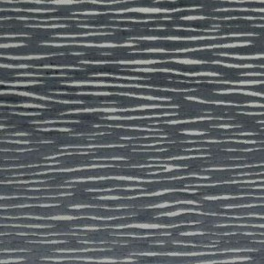 Clarke and Clarke Academy Velvets Zebra Pewter Curtain Fabric